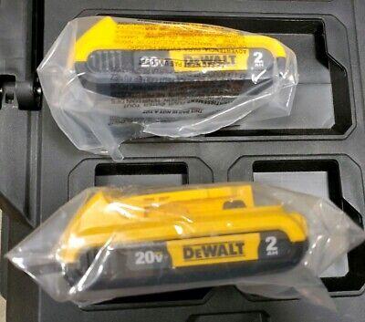 (2) New GENUINE Dewalt 20V DCB203 2.0 AH MAX Batteries 20 Volt For Drill, Saw