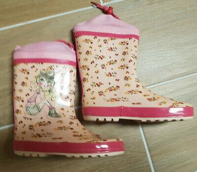 GUMMISTIEFEL Gr. 34 rosa Blumen Cowgirl Mädchen