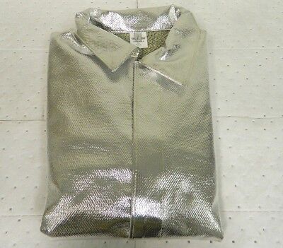 Pro-safe Aluminized Hazardous Coverall Silver Size Xl Al04-ck-xl
