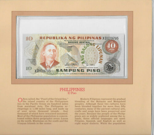 Most Treasured Banknotes Philippines 1978 10 Piso P 161b UNC sign. 9 Blk XD