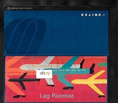 United Airlines 2006 Leg Roomier Economy Plus Art Work Ticket Jacket