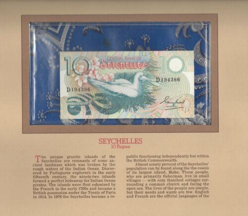 Most Treasured Banknotes Seychelles 1983 10 Rupees P-28 UNC Fancy D194386