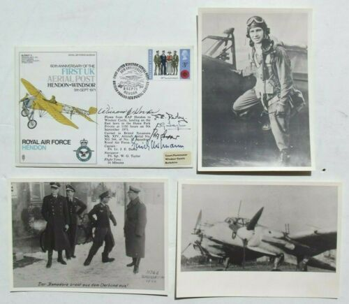 Erich Hartmann Leading All Time Fighter Ace WW II Signed Cover + Co-Signers