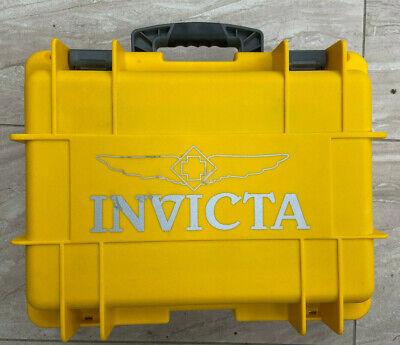 Invicta Waterproof Protective Case 8 Slot Yellow Boat Dive Dry Box Lockable