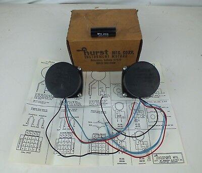 Lot Of 2 Hurst 3204-019 Gear Motor 30rpm 115vac 60hz. 7.5 Watts Model Pb