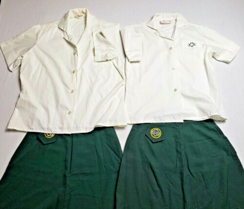 Vintage Girl Scout Cadette Uniforms - Skirt and Blouse