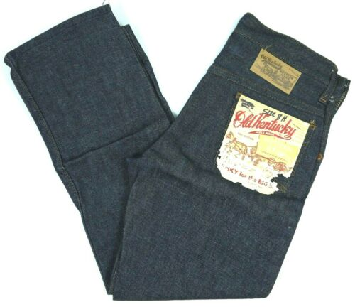 VINTAGE OLD KENTUCKY SANFORIZED JEANS DENIM MADE IN USA KIDS BOYS YOUTH 8 26w