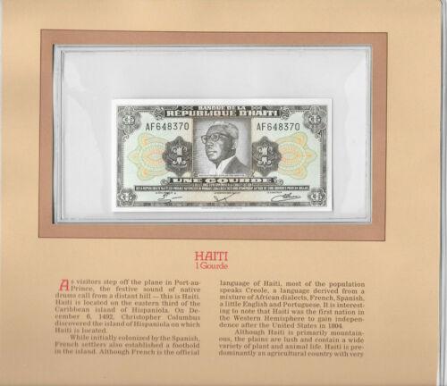 Most Treasured Banknotes Haiti 1 Gourde 1984 P 239 UNC Prefix AF