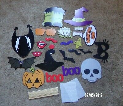 Halloween Photo Booth Props (77 pcs. Halloween Wedding New Years Party Photo Booth Props)