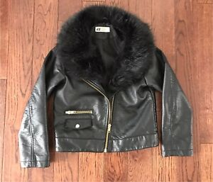 95ea9ee4993 H M Girls Faux Leather Jacket (size ...