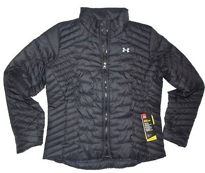 Under Armour women's Cold Gear Reactor Black puffer Jacket LARGE retail $200