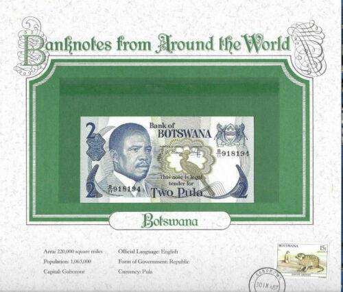 World Banknotes Botswana 2 Pula 1982 P 7b UNC Prefix B/9 sign. 4