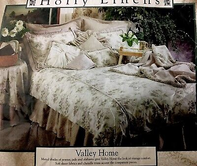 Holly Linens Luxury Vintage wisteria Cabbage Rose Duvet 100% Cotton Valley Home