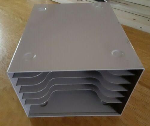 "Vintage ""Buddy"" 6 Slot Paper Tray Mid Century Industrial Organizer"