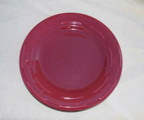 """Woven Traditions Dinner Plate 10"""" Paprika Accents Longaberger Pottery USA"""
