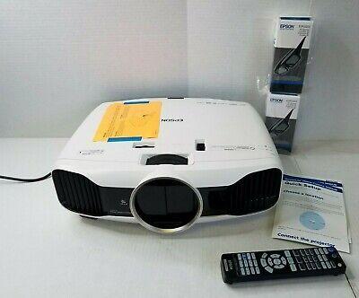 Epson Powerlite Home Cinema 5030UB Projector W/Remote & 2 3D Glasses