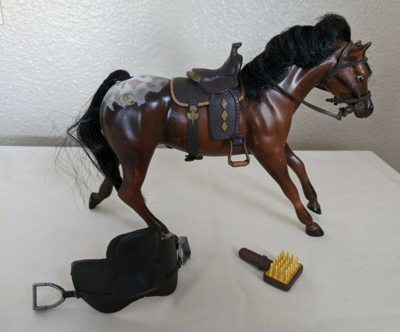 Vintage GC Grand Champions Horse Appaloosa Stallion #50025 w/Saddle -1980