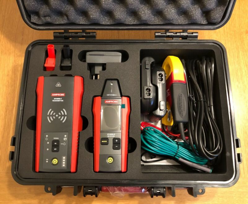 Amprobe AT-6030 Wire Tracing Kit w/Signal Inducing Clamp - New in Box/Free Ship