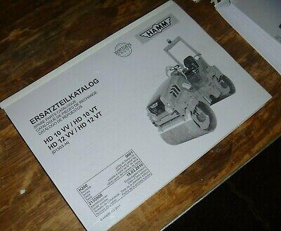 Hamm Hd12vv Hd12vt Vibratory Smooth Drum Roller Compactor Part Catalog Manual
