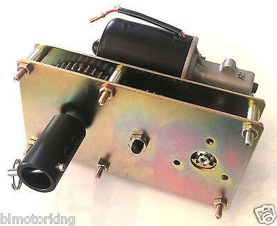 Makermotor 12v Dc 5rpm Spit Smoker Bbq Rotisserie Gear Motor Steel Coupling