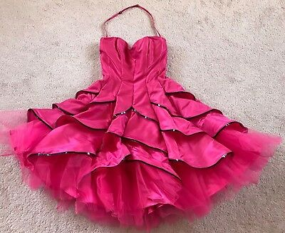 (Betsey Johnson Evening / Prom Dress!!!  Hot Rose!! Sold Out!! NWOT)