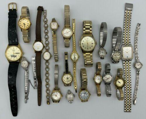 Lot of 20 CARAVELLE by Bulova Watches, Vintage, Mechanical, Quartz Men