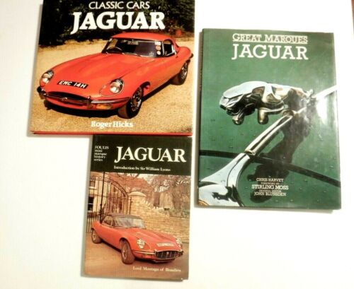 "Lot of 3 - Hardcover Books (Jaguar ) ""Classic Cars: Jaguar"" -  Roger Hicks"