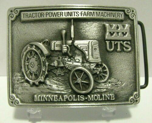 MINNEAPOLIS MOLINE MM U Series UTS Tractor Pewter Belt Buckle Ltd Ed Spec Cast