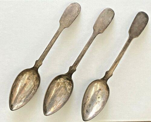 Antique Vintage 800 European German Sterling Silver Table Soup Spoon Flatware