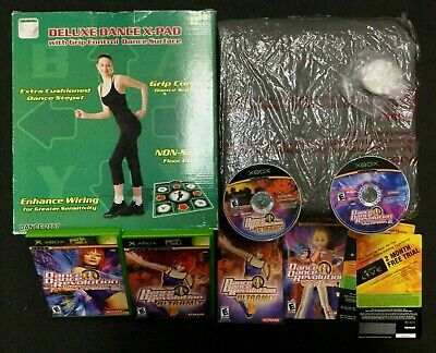 DANCE DANCE REVOLUTION ULTRAMIX 1 + 2 +  Deluxe Dance X-pad ORIGINAL XBOX, used for sale  Shipping to India