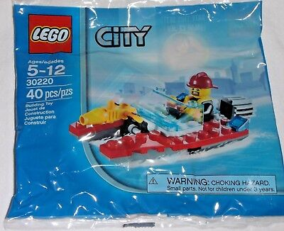 LEGO new sealed PROMO POLY BAG Baggie set 30220 CITY Fire Speedboat Firefighter