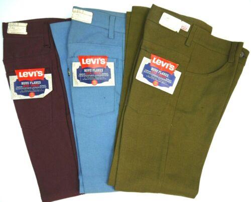 LOT Vintage 70s Levis NOS 646 Bell Bottom Pants Mens 26x27 Gold Big E Deadstock