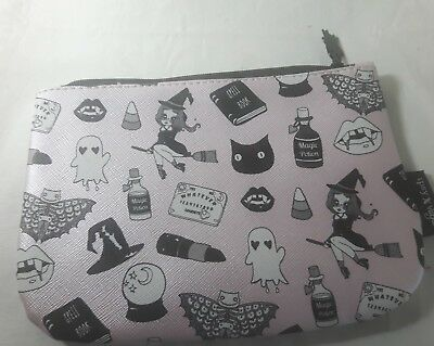 IPSY x VALFIE pink black halloween witch cosmetic make up bag pouch spell book ](Halloween Witch Make Up)