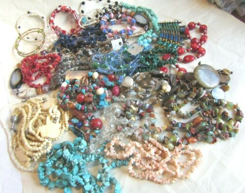 Vintage lot of strands of beads for jewelry making projects
