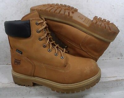 """Timberland Pro Mens Direct Attach Wheat 6"""" WTP Safety Boots Shoes 65016 sz 11 M"""