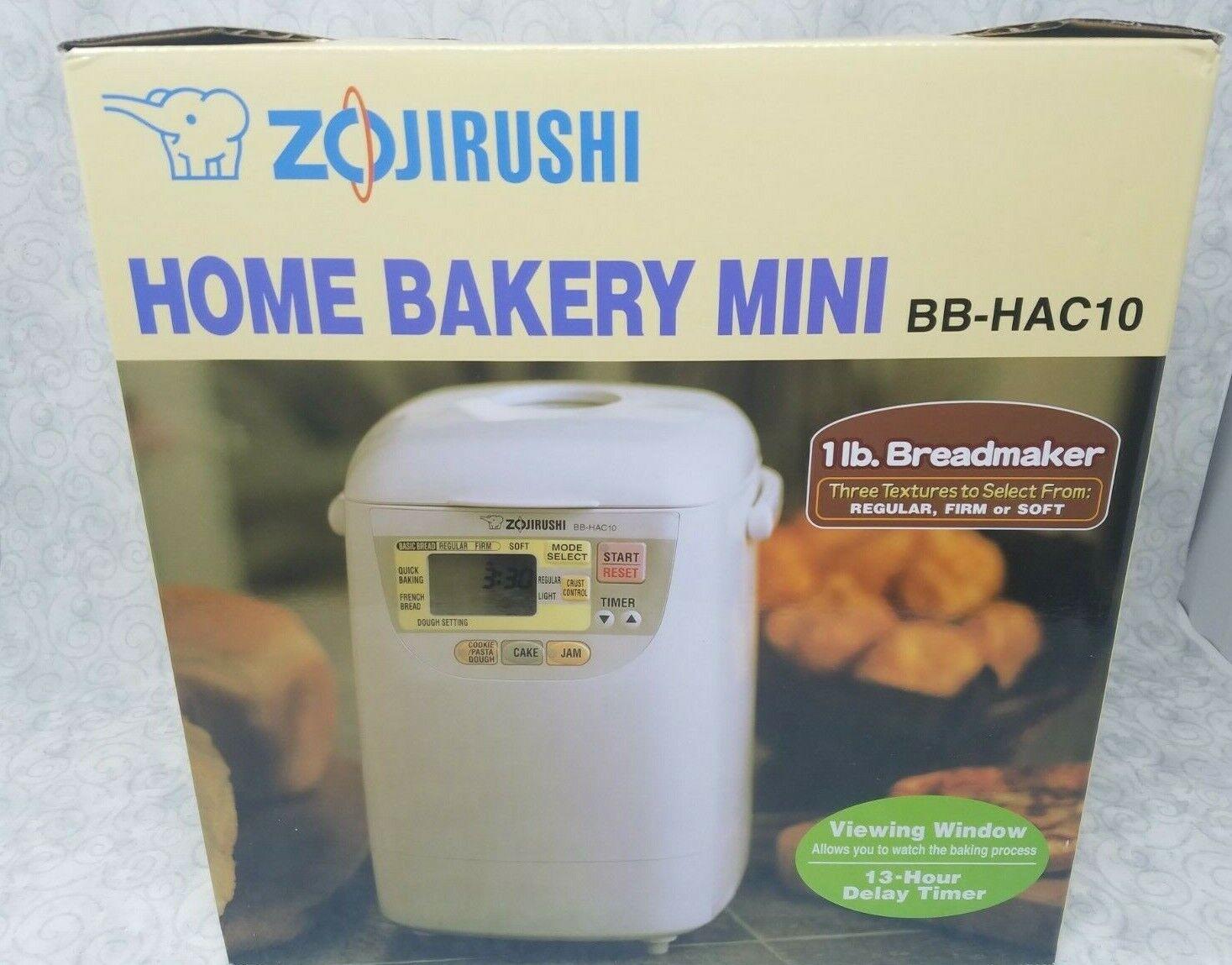 Zojirushi Home Bakery Mini Bread Maker BB-HAC10, White - Bra