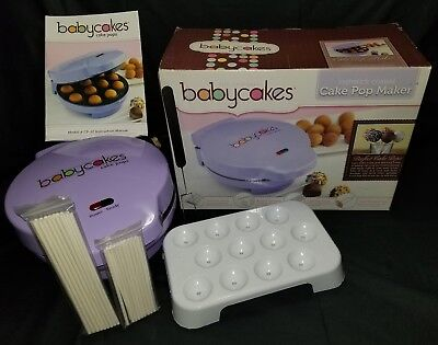 BABYCAKES CP-12 Cake Pop Maker, 12 Cake Pop Capacity, Violet Purple 12-Pops