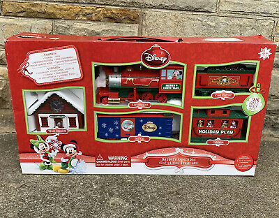 Disney Mickey Mouse & Friends Battery Operated Christmas 28 Pc Train Set No Sign