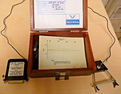 Instron Strain Gauge Extensometer Model 2630-035 Tensile Fatigue Testing