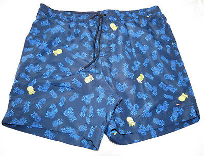 Herren Badehose Boardshorts Tommy Hilfiger XXL 78B0915 Blues 409 Ananas