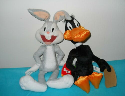 Looney Tunes Bugs Bunny and Daffy Duck Plush Toy Collectible Pair