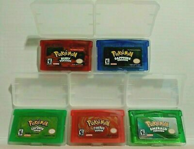 Pokemon Emerald Ruby Sapphire FireRed LeafGreen GBA Gameboy Advance FAST SHIP!