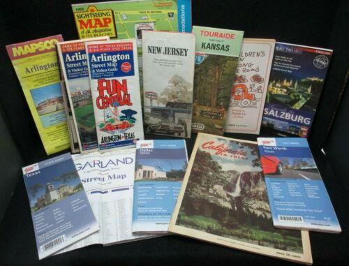 Lot Travel Tourist Maps Guides NJ Kansas St Augustine Texas Salzburg California