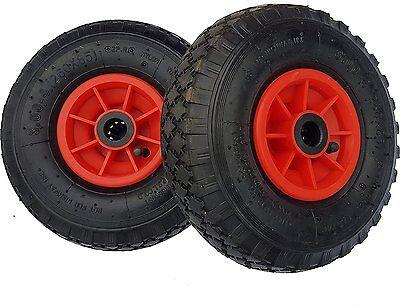 2 x Frosal Rad Ersatzrad Bollerwagenrad 260x85 Sackkarre Reifen Bollerwagen rot