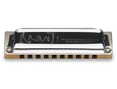 Suzuki Harmonica Manji M-20 Professional Diatonic 10-Hole Key of C Japanese on Rummage