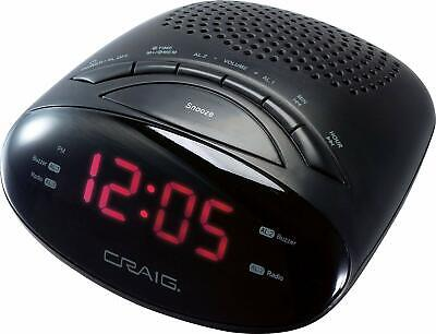 Craig CR45329B Dual Alarm Clock Digital PLL FM Radio with 0.6″LED Display Snooze