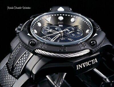 NEW 50MM Invicta Subaqua POSEIDON BOLT ALL Black MOP Dial Bracelet Watch