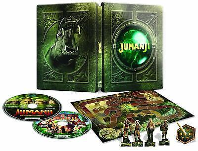 Jumanji: Welcome to the Jungle SteelBook-Blu-Ray + Jumanji  Film + Board