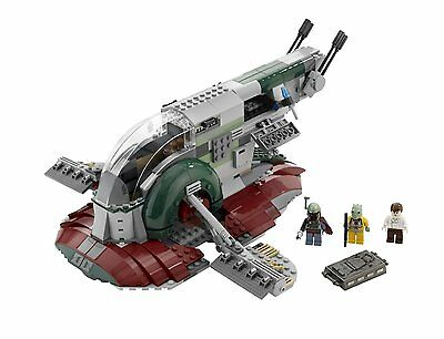 Lego Star Wars   Rare Slave 8097   New  No Box    Boba Fett Han Solo Bossk