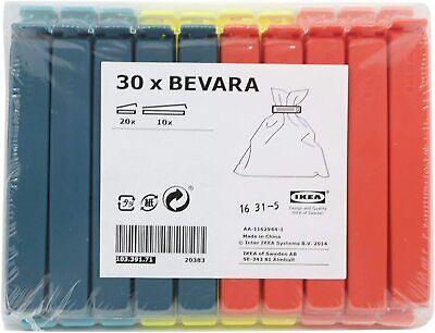 IKEA Bevara 30 Food bag Storage Clips Freezer & Fridge Bag Sealing...